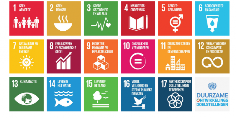 Overzicht van de sustainable development goals